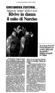Rivive in danza il mito di Narciso (ital.)