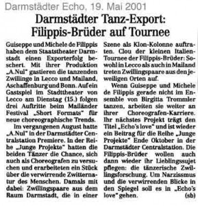 Darmstädter Tanz-Export Filippis-Brüder auf Tournee (dt.)