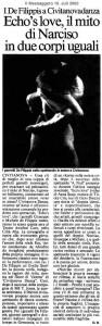 Ecos Love, il mito di Narciso in due corpi uguali (ital.)
